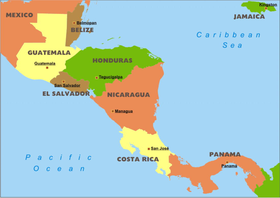 Political Map - Latin Amer